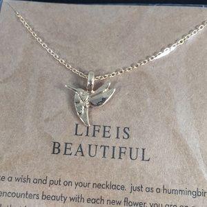 Gold Hummingbird Bracelet